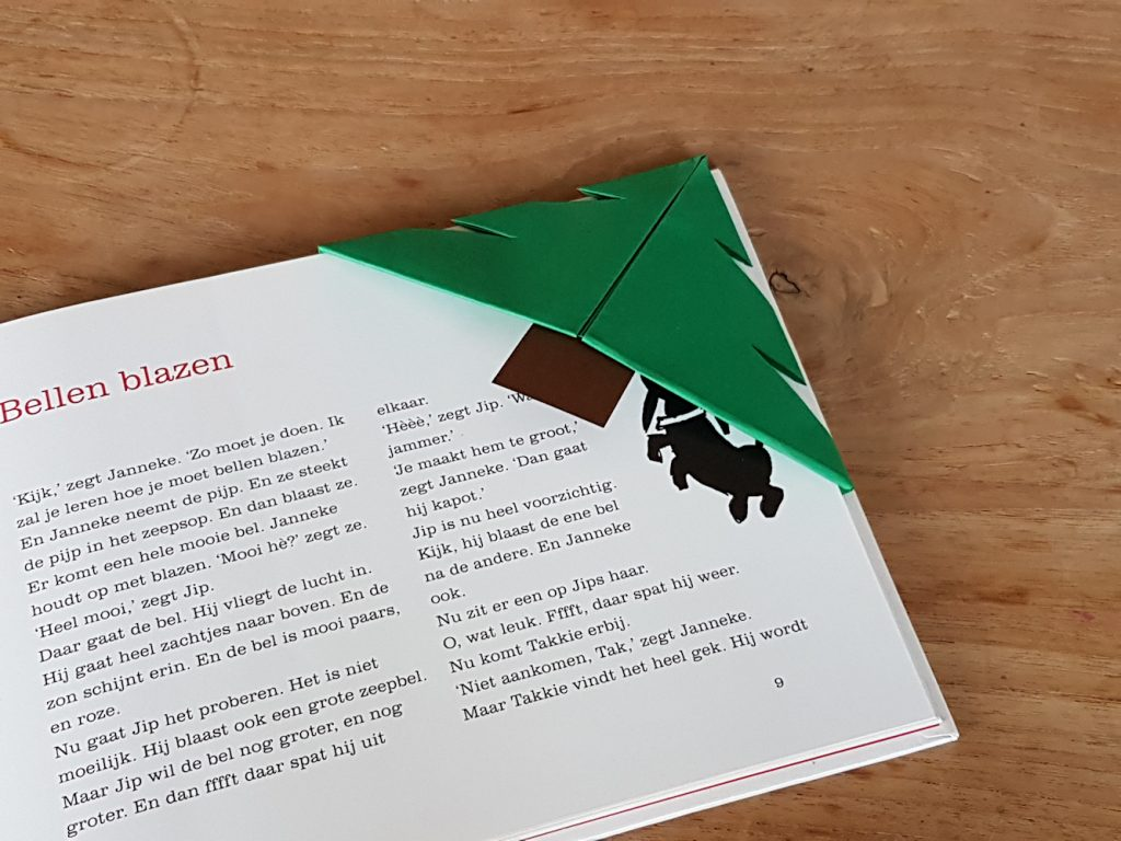 Kerst boekenlegger kerstboom resultaat